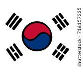 korean flag background  vector... | Shutterstock .eps vector #716157235