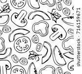 vegetables illustration.... | Shutterstock . vector #716159671
