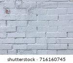 white bricks wall texture | Shutterstock . vector #716160745