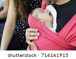 father carrying his little... | Shutterstock . vector #716161915
