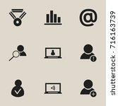 set of 9 editable global icons. ...