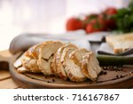 delicious sliced turkey breast... | Shutterstock . vector #716167867