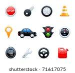 vector car icons | Shutterstock .eps vector #71617075