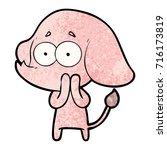 cartoon unsure elephant   Shutterstock .eps vector #716173819