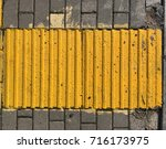 yellow ribbed tile | Shutterstock . vector #716173975