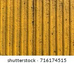 yellow ribbed tile | Shutterstock . vector #716174515