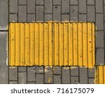 yellow ribbed tile | Shutterstock . vector #716175079