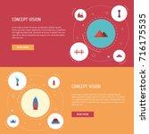 flat icons beijing  moscow ... | Shutterstock .eps vector #716175535