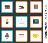 flat icons phone  armchair ... | Shutterstock .eps vector #716175811