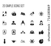 set of 20 editable job icons....