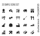 set of 20 editable construction ...