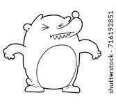 cartoon bear | Shutterstock .eps vector #716192851