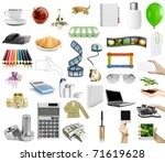 isolated objects on the white... | Shutterstock . vector #71619628