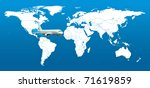 real detail world map of... | Shutterstock . vector #71619859