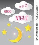 good night background vector | Shutterstock .eps vector #716206084