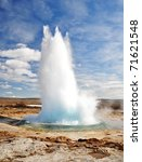 Famous Geyser Eruption In A...