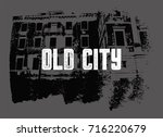 old city typographic vintage... | Shutterstock .eps vector #716220679