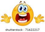 panic emoticon | Shutterstock .eps vector #71622217