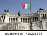 view of the italian parliament...   Shutterstock . vector #716225935