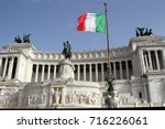 view of the italian parliament... | Shutterstock . vector #716226061