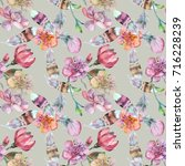 watercolor seamless for textile ...   Shutterstock . vector #716228239