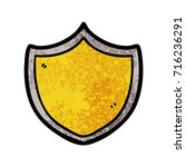 cartoon shield | Shutterstock .eps vector #716236291