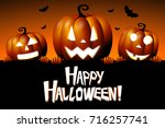 Stock photo halloween happy halloween 716257741