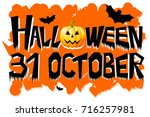 halloween   31 october | Shutterstock . vector #716257981
