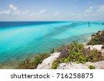 magnificent views of caribbean... | Shutterstock . vector #716258875