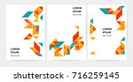 brochure  leaflet  flyer  cover ... | Shutterstock .eps vector #716259145