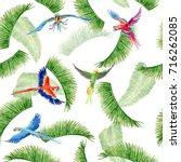 watercolor seamless pattern... | Shutterstock . vector #716262085