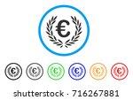 euro laurel wreath icon. vector ... | Shutterstock .eps vector #716267881