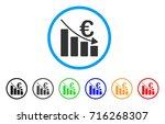 euro recession bar chart icon.... | Shutterstock .eps vector #716268307