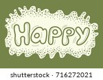 vector funny hand drawn... | Shutterstock .eps vector #716272021