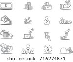 money set icons. simple set of... | Shutterstock .eps vector #716274871