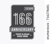 166 years anniversary design...   Shutterstock .eps vector #716278681