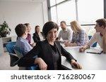 portrait of successful... | Shutterstock . vector #716280067
