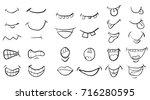 cartoon mouth set vector symbol ... | Shutterstock .eps vector #716280595