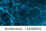 abstract connection dots.... | Shutterstock . vector #716280691