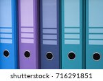 colorful office folders  | Shutterstock . vector #716291851