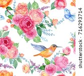 seamless pattern for fabric... | Shutterstock . vector #716293714