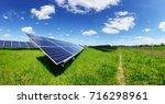 Solar panel on blue sky...