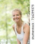 portrait of blond woman   Shutterstock . vector #716299375