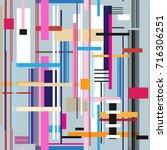 geometric multicolored pattern... | Shutterstock .eps vector #716306251