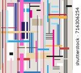 geometric multicolored pattern... | Shutterstock .eps vector #716306254