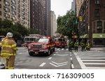 new york city  new york  ... | Shutterstock . vector #716309005