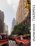 new york city  new york  ... | Shutterstock . vector #716309011