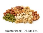 Group Of Nuts Isolated On Whit...