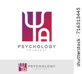 psychology initial letter a... | Shutterstock .eps vector #716313445