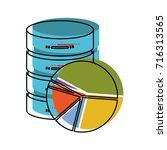 server hosting storage and... | Shutterstock .eps vector #716313565